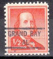 USA Precancel Vorausentwertung Preo, Locals Alabama, Grand Bay 841 - Etats-Unis