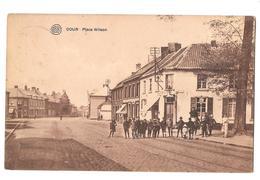 Dour Place Wilson Albert Bon état Timbre Manquant 1923 Etablissement Vaubert Edit - Dour