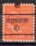 USA Precancel Vorausentwertung Preo, Locals Alabama, Greensboro 723 - Etats-Unis
