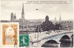 1910 Grande Semaine D'Aviation De Rouen Mit Flugvignette; Gelaufen Nach Goderville - Meetings