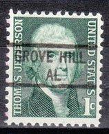 USA Precancel Vorausentwertung Preo, Locals Alabama, Grove Hill 841 - Etats-Unis