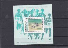 Portugal 1984 Los Angeles Olympic Games Souvenir Sheet  MNH/** (H24) - Summer 1984: Los Angeles