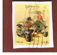 ITALIA REPUBBLICA  -   2017  LA LAMBRETTA    -   USATO  ° - 1946-.. République