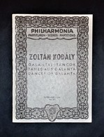 Musica Spartiti - Philarmonia No. 275 - Zoltàn Kodàly - Galàntai Tàncok - Vecchi Documenti