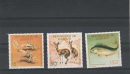 Djibouti Yvert Série 473 à 475 ** Neufs Sans Charnière - Animaux Insectes  Poissons - Djibouti (1977-...)