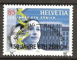 Zu 1151 / Mi 1913 / YT 1835 150 Ans EPF Zürich Obl. 1er Jour Demi-lune - Switzerland