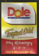 # PINEAPPLE DOLE TROPICAL GOLD MY ENERGY Size 7 Fruit Tag Balise Etiqueta Anhanger Ananas Pina Costa Rica - Fruits & Vegetables