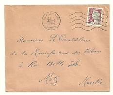 SOMME - Dépt N° 80 = AMIENS GARE 1964 =  FLAMME Non Codée à DROITE =  SECAP Muette '5 Lignes Ondulées' - Postmark Collection (Covers)