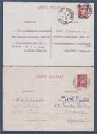= Entier 515-CP1 Maréchal Pétain 1f20 Départ De Bizerte 24.3.42 De Constantine 13.5.42 Voir Emplacement Du Timbre - Postal Stamped Stationery
