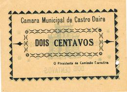 CÉDULA DA CAMARA MUNICIPAL DE CASTRO DAIRE - 2 CENTAVOS. - Portugal