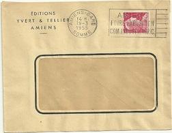 SOMME - Dépt N° 80 = AMIENS GARE 1955 = FLAMME à DROITE = SECAP ' FOIRE EXPOSITION / COM. INDUSTR. AGRIC ' - Postmark Collection (Covers)