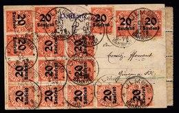 A5740) DR Infla Dienstkarte Ulm 8.10.23 MeF Mi.D90 - Briefe U. Dokumente