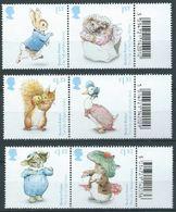 GROSSBRITANNIEN GRANDE BRETAGNE GB 2016 BEATRIX POTTER SET OF 6 V.  SG 3856-61 MI 3914-19 YV 4326-31 - 1952-.... (Elizabeth II)