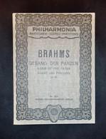 Musica Spartiti - Philarmonia No. 282 - J. Brahms - Gesang Der Parzen Op. 89 - Vecchi Documenti