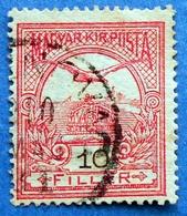 79B HUNGARY MAGYAR 10 F 1906 Perf: 15 TURUL (Black Number) - USED - Gebraucht