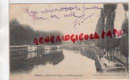77 - MELUN - BORDS DE LA SEINE - LE BATEAU LAVOIR -  1904 - Melun