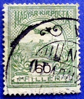 86B HUNGARY MAGYAR 60 F 1906 Perf: 15 TURUL (Black Number) - USED - Gebraucht