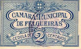 CÉDULA DA CAMARA MUNICIPAL DE FELGUEIRAS - 2 CENTAVOS. - Portugal