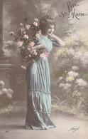 Carte Postale Ancienne Fantaisie - Femme - Vive Ste Marie - Prénoms