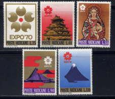 VATICAN - 497/501** - EXPOSITION UNIVERSELLE D'OSAKA - Neufs