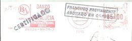 FRANQUEO MECANICO MADRID 1987 FRAGMENTO 15X6 - Marcofilia - EMA ( Maquina De Huellas A Franquear)