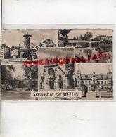 77 - MELUN- PLACE SAINT JEAN-BORDS DE LA SEINE ET PONT-PARC ET HOTEL DE VILLE-EGLISE NOTRE DAME- - Melun