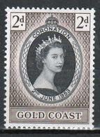 Gold Coast 1953 Single Stamp To Celebrate The Coronation. - Gold Coast (...-1957)
