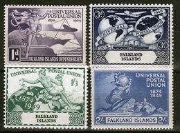 Falkland Islands George VI Universal Postal Union Set From 1949 - Falkland Islands