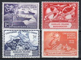 Falkland Islands Dependencies George VI Universal Postal Union Set From 1949 - Falkland Islands