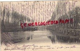 77 - MELUN- BORDS DE LA SEINE   CARTE PRECURSEUR 1903 - Melun