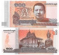 CAMBODIA 100 RIELS 2014 UNC - Cambodge