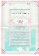 3357    SLOVENIJA  OBVEZNICA   1000     MARK - Slovénie
