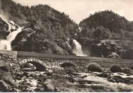 Postcard RPPC Norway Hardanger Låtefoss Waterfall Bridge Hardanger 1940s ? 1950s ? - Norway