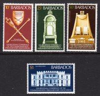 BARBADOS - 1977 COMMONWEALTH PARLIAMENTARY CONFERENCE SET (4V) FINE MNH ** SG 582-585 - Barbades (1966-...)