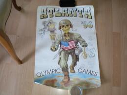 Poster Plakat Atlanta 1996 Olypmic Games Propaganda Big Format - Olympics