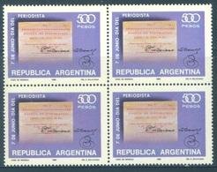 ARGENTINA - MNH/** - 1980 - JOURNEE DES JOURNALISTES - Yv 1220 - Lot 18456 BLOC OF 4 STAMPS - Blocs-feuillets