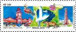 BRAZIL 2018  - GUYANA, TOURISM, FLORA AND FAUNA  -   KAIETEUR FALLS - 1v  MINT - Unused Stamps