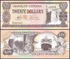 Guyane  20 Dollars Type 1996 UNC - Guyana