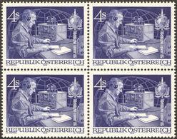 50 Years Interpol - Wireless - Radio - Austria 1973 Michel # 1427 - Bloc Of 4 ** MNH - Physics - Telekom