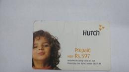 India-hutch Prepiad-(11l)-prepiad-(rs.597)-(2/3/2005)-(damged)-prepiad Card-used+1 Card Prepiad Free - India