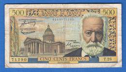 500 Fr  Du  4/3/1954 - 1871-1952 Circulated During XXth