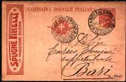 71117) INTERO POSTALE DA 30C. MICHETTI CON PUBBLICITà- SPUGNE PIRELLI IL 9-6-1924-MIL. 23 - 6. 1946-.. Repubblica