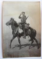 Portrait D'un Soldat Cavalier Russe Cliché De L'artiste François Antoine Vizzavona Photographe Oeuvre De 1913 Signée - Militaria