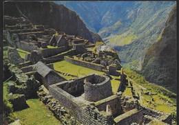 PERU' - TORREON DE MACHUPICCHU - CUSCO - VIAGGIATA FRANCOBOLLO ASPORTATO - Perù