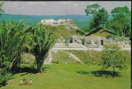BELIZE - MAYA RUIN - VIAGGIATA  FRANCOBOLLO ASPORTATO - Belize