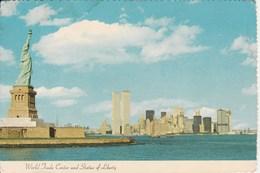 WORLD TRADE CENTER AND STATUE OF LIBERTY NEW YORK CITY 42H - World Trade Center