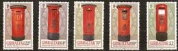 Gibraltar 2016 Micheln°  1751-1755 *** MNH  Pillar Boxes Postbussen Boîtes Postales - Gibraltar