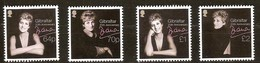 Gibraltar 2017 Micheln°  1815-1818 *** MNH  20° Anniversaire Lady Diana - Gibraltar