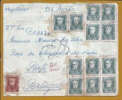 Duque De Caxias Military And Brazilian Politician. Independence Brazil. Letter Registered With 28 Stamps. D. Pedro I - Other