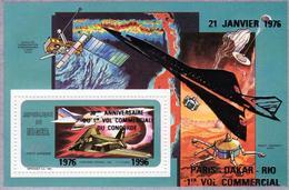 Niger 1996, Concorde, Space, BF Overpr. SILVER - Space